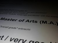 Master-Abschluss +++ Got my Master's degree (YAY!)