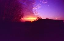 Sonnenaufgang auf der Arbeit.