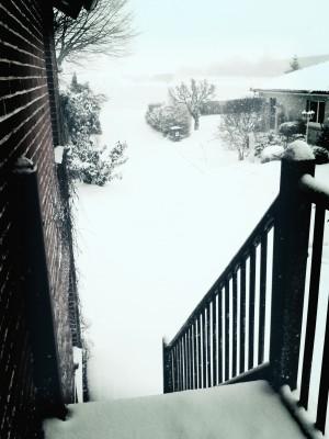 Schnee, mal wieder.