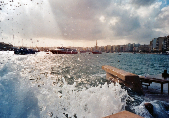 getting soaked in Malta