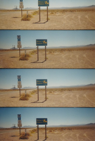 Eingangsschild Kalifornien, 2005