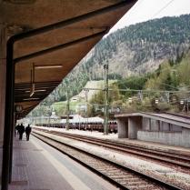 ..in die Berge (hier am Brennerpass).